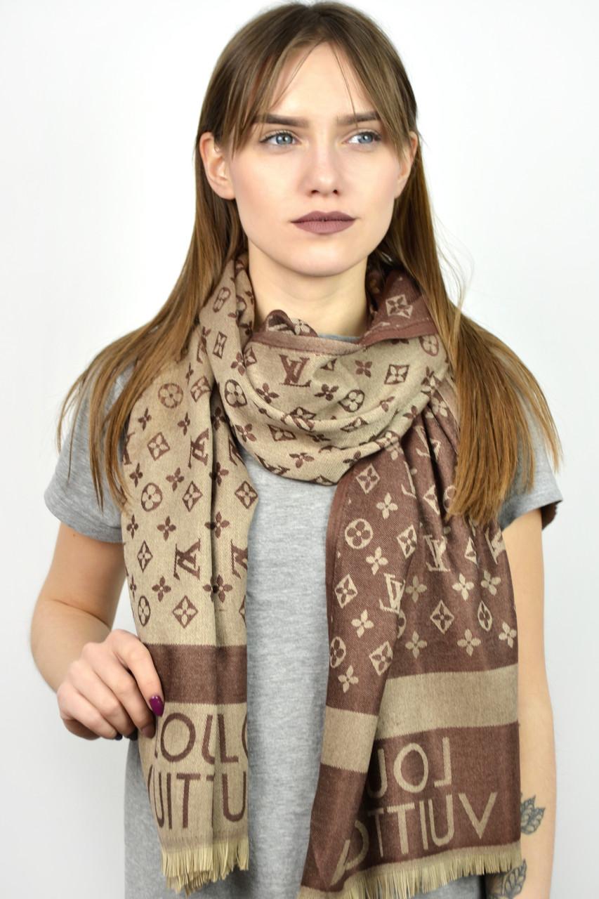 Палантин брендовый Louis Vuitton шоколадный - Platok.net.ua в Хмельницком c3026d7a65c