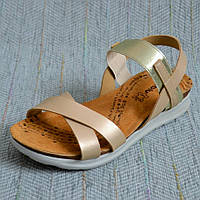Золотистые босоножки для девочек Inblu размер 36 37 38