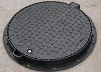 Люк канализационный пластиковый корпус + крышка черный МПЛАСТ