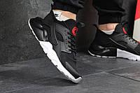 Nike Air Huarachi черные на черно-белой подошве