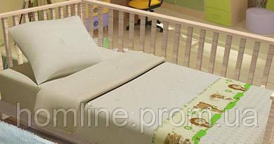 Постільна білизна для немовлят KidsDreams Лісові звірята бежеве дитяче ліжечко