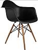 Кресло офисное пластиковое черное, кресло для ожидания, кресло садовое (Тауэр Вуд черный), фото 3