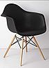 Кресло офисное пластиковое черное, кресло для ожидания, кресло садовое (Тауэр Вуд черный), фото 2