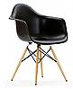 Кресло офисное пластиковое черное, кресло для ожидания, кресло садовое (Тауэр Вуд черный), фото 4