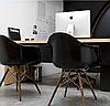 Кресло офисное пластиковое черное, кресло для ожидания, кресло садовое (Тауэр Вуд черный), фото 5