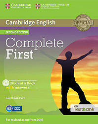 Complete First 2nd Edition Student's Book with answers and CD-ROM and Testbank