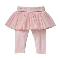 Лосины с юбочкой Gap для девочки розовый 0-3 мес