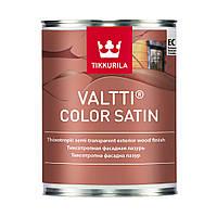 Valtti color satin. Валтти колор сатин антисептик для дерева с сатиновым блеском 0,9 л