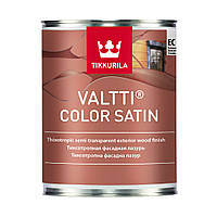 "Valtti color satin. ""Валти колор сатин"" антисептик для дерева с сатиновым блеском 0,9 л"