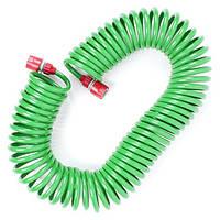 """Шланг для полива спиральный 15 м с конекторами + aдаптер универсальный для конектора 1/2"""" INTERTOOL GE-4002"""