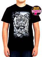 Оригинальная подростковая футболка с тигром
