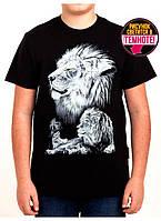 Крутая подростковая футболка с рисунком льва