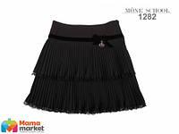 Школьная юбка MONE 1282 гофре, цвет черный