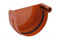 Заглушка желоба правая водосточной системы Бриза (Bryza) 125 мм кирпичный