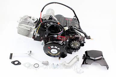 Двигатель для квадроцикла 110куб  механика (3передачи + 1 задняя)