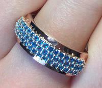 Кольцо серебряное с золотыми накладками Джульетта 3 с танзанитом