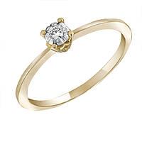 Золотое кольцо Поэма с бриллиантом 17 000044091