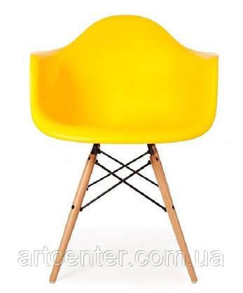 Офисное кресло пластиковое, кресло для ожидания, кресло для дачи желтое (Тауэр Вуд желтый)