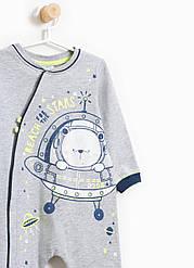 """Коттоновий человечек """"Космонавт"""" OVS для мальчика 9-12 мес/74 см"""