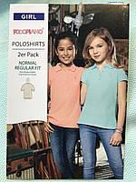 Детская тенниска поло Pocopiano на девочку 5-6 лет, рост 116см, набор из 2 шт.