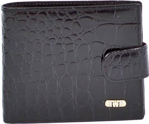 Солидное кожаное портмоне WANLIMA (ВАНЛИМА) Арт. W120467401604-black чёрный