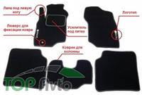 KsuStyle Ворсистые коврики Mitsubishi Carisma
