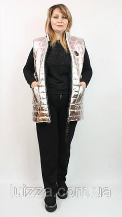 Женский турецкий костюм тройка с жилетом 48-54р золото 50, фото 2