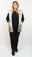 Женский турецкий костюм тройка с жилетом 48-54р золото