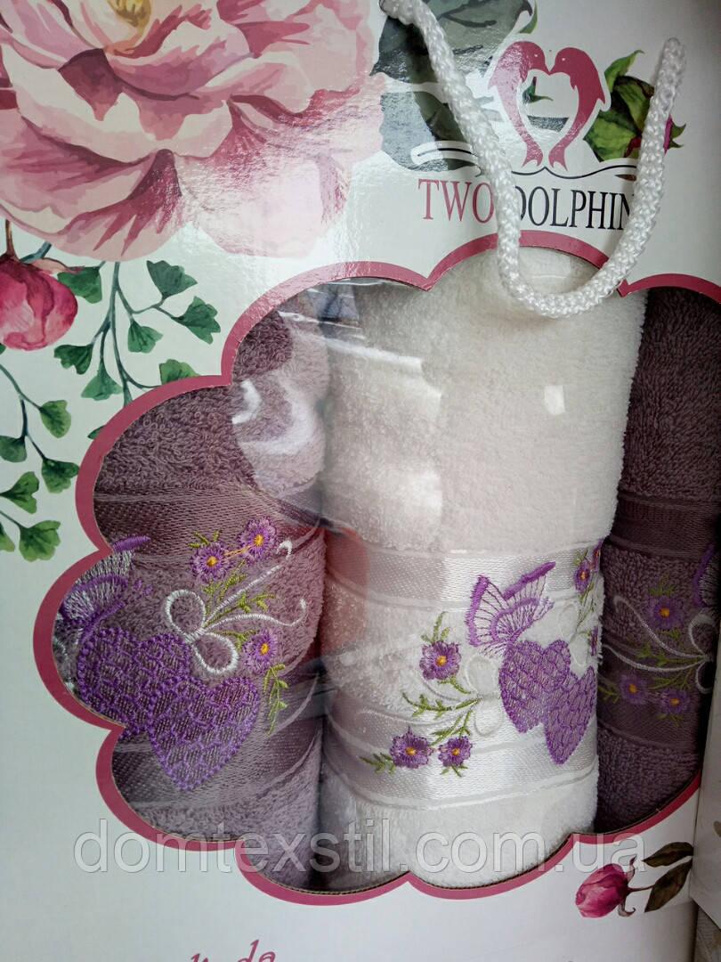 Подарочный набор полотенец баня+2лицо Турция