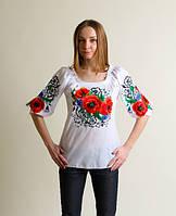 Батистовая женская вышитая блузка Эхо
