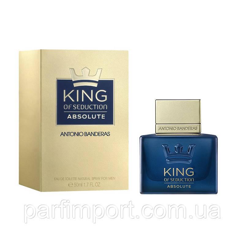 Antonio Banderas KING Seduction ABSOLU EDT 30 ml  туалетная вода мужская (оригинал подлинник  Испания)