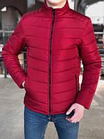 Куртка мужская демисезонная, весенняя, осенняя красная
