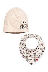 "Набор шапочка и хомут ""Chip 'n Dale"" H&M для девочки или мальчика 6-12 мес/46-48 см"