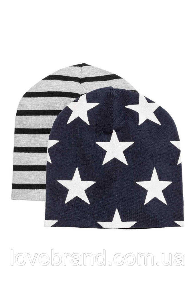 Набор с 2-х шапочок H&M для мальчика 1.5-4 г./50-51 см