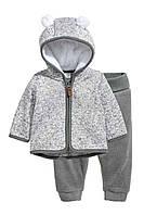 Набор худди и штанишки H&M для мальчика 2-4 мес/62 см