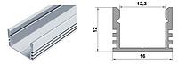 Профиль угловой ЛП12-с20-AL 4596