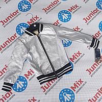 Модные детские куртки бомбер для девочек из кожзама оптом ИТАЛИЯ MODA, фото 1