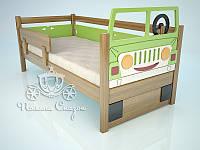 """Кровать с декором """"ЗиЛ"""" с запаской и рулем. Ольха,МДФ, фото 1"""