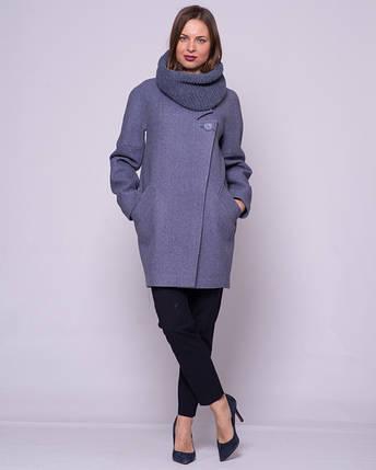 Женское пальто с хомутом 1294, фото 2