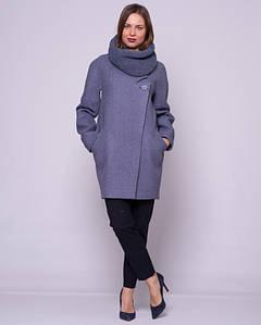 Женское пальто с хомутом 1294
