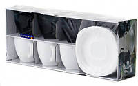 Сервиз Luminarc CARINE White&Black /220X6 д/чая