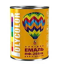 Емаль алкідна для підлоги економ ПФ-266/POLYCOLOR/ червоно-коричнева 2,8
