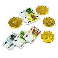 Шоколадные Золотые монеты+купюры Евро, 100 гр