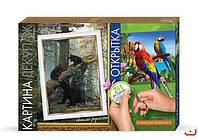 Набор для творчества DankoToys DT КД-03 декупаж 2в1 картина + открытка