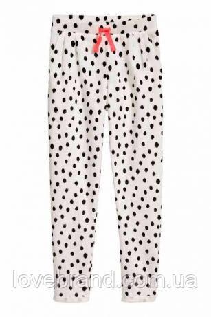 Спотртивные штаны в горох H&M для девочки 6-7 л./122 см