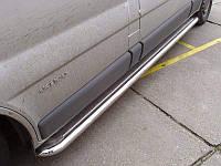 Пороги площадки С2 труба с листом нерж 60мм для Opel Vivaro / Renault Trafic / Nissan Primastar КОРОТКАЯ БАЗА
