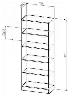 Шкаф открытый В-183 , фото 2