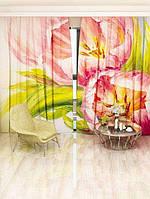 Фотоштора Walldeco Розовые тюльпаны 142х270 2шт (18922l_4_1)