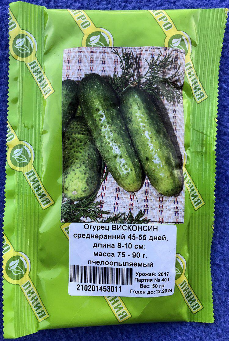 Семена  огурца сорт Висконсин F1 50 гр