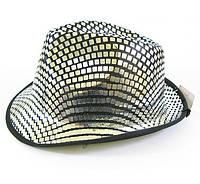 Шляпа диско серебро